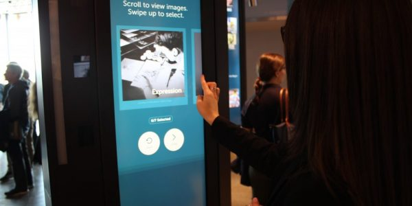 The Becoming Liberty interactive allows visitors to select images to share what liberty means to them
