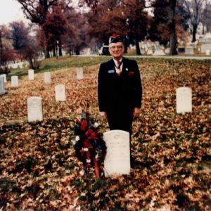 Dr. Garcia at Arlington Cemetery 1989 - Hector P Garcia Archives