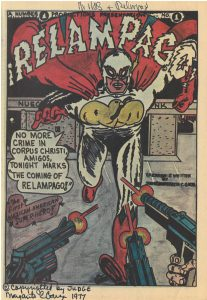 Comic book cover of Relampago from the Hector P. Garcia collection
