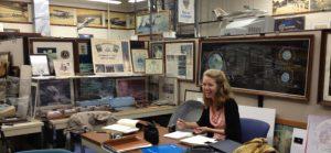 Halley Fehner, History Associates, at Grumman History Center, Long Island, NY
