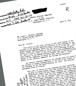 Sample declassified document from the Nuclear Testing Archive