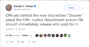 Tweet from President Trump