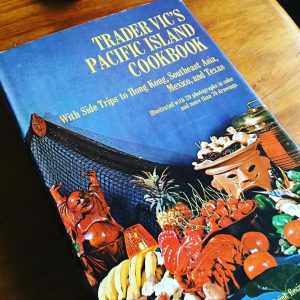 Trader Vic's Pacific Island Cookbook provides research into tourism history of tiki bars