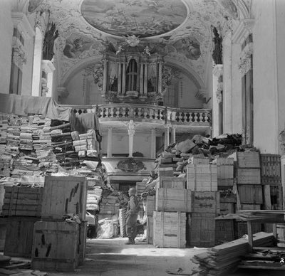 German loot stored in church at Ellingen, Germany found by troops of the U.S. Third Army. 4/24/45.