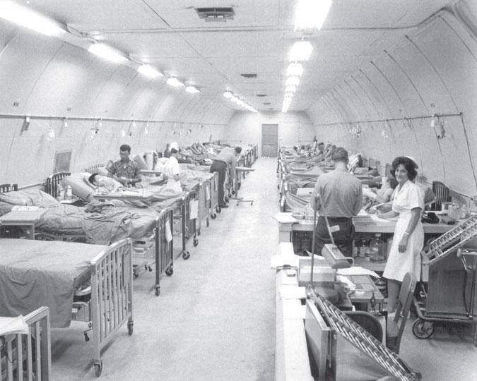 Nurse Betty Ann Mattewson in Ward 2A Danang, Vietnam 1968. Photo courtesy NNCA.