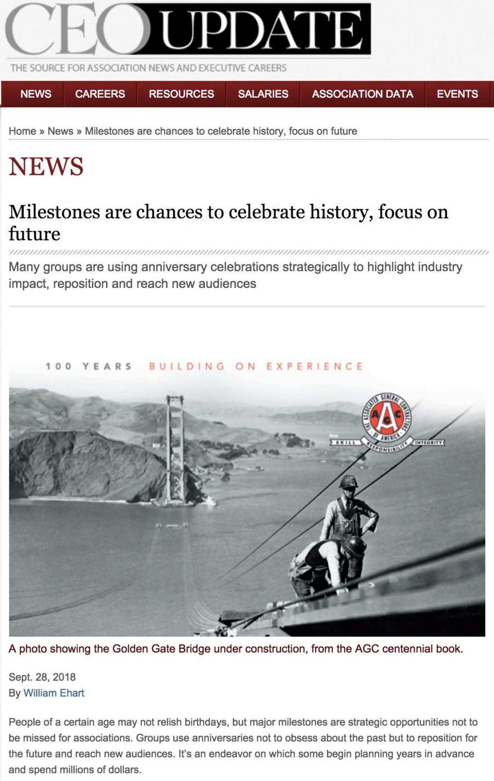 Milestones are chances to celebrate history, focus on future