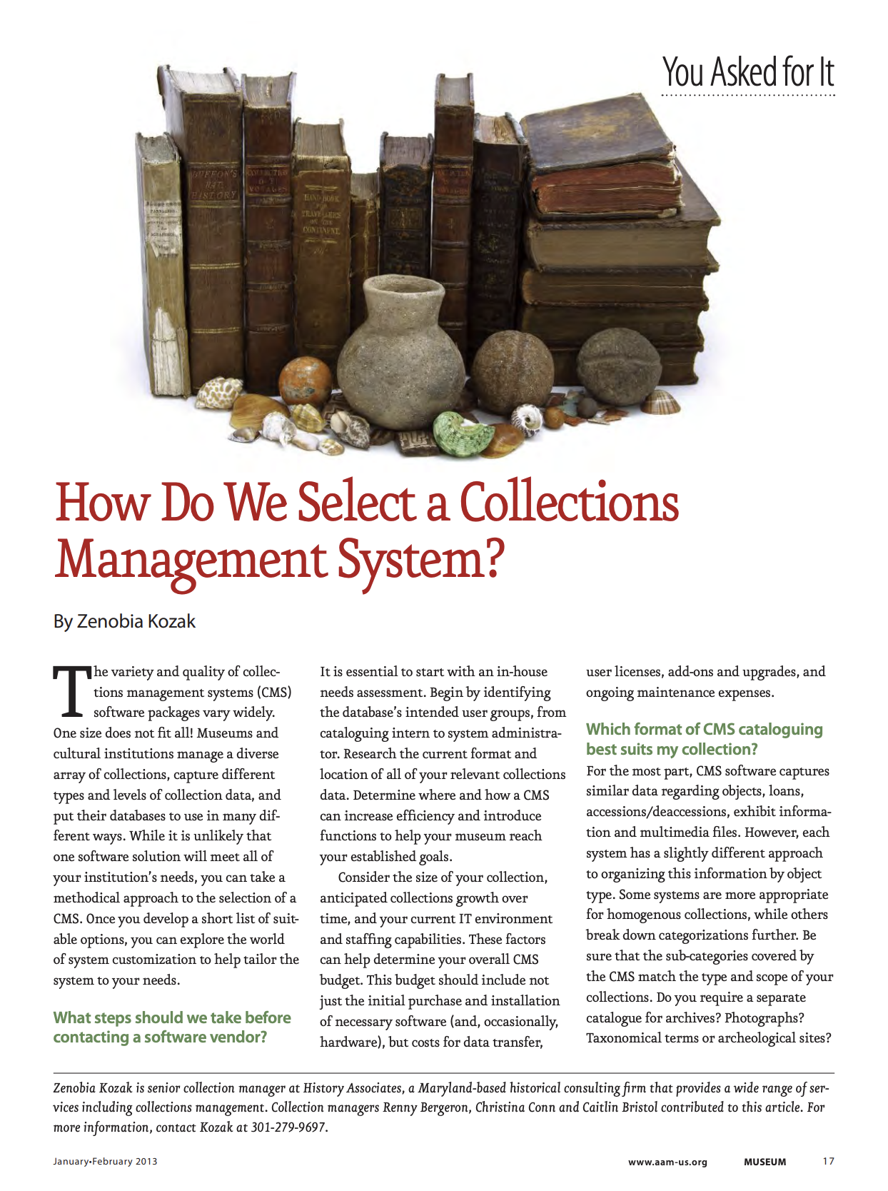 How Do We Select a Collections Management System?