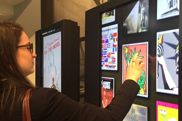 An interactive exhibit to engage audiences.
