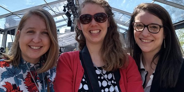 History Associates content team for the Statue of Liberty Museum – Carlyn Swaim, Halley Fehner, and Elizabeth Livesey