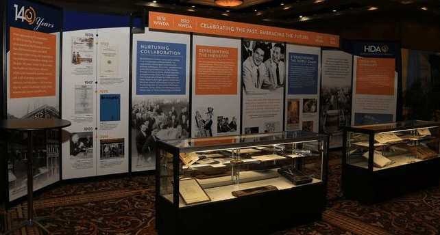 In celebration of its 140th anniversary, HDA created a special presentation and exhibit on its history, displayed at the Business and Leadership Conference (BLC) 2016 in Colorado Springs, CO. Photo courtesy HDA