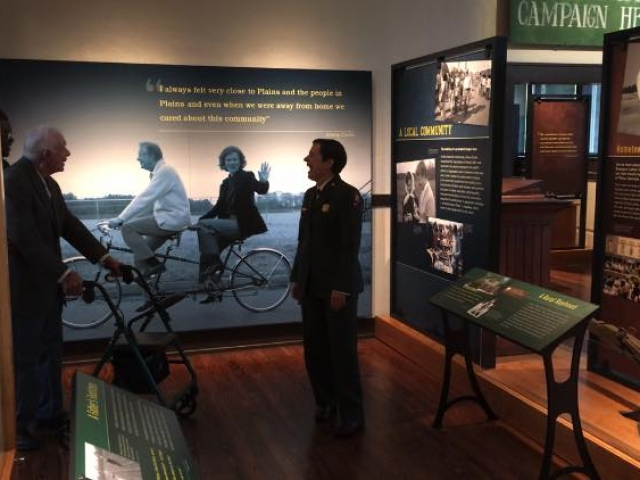 President Carter tours exhibits about his life and legacy