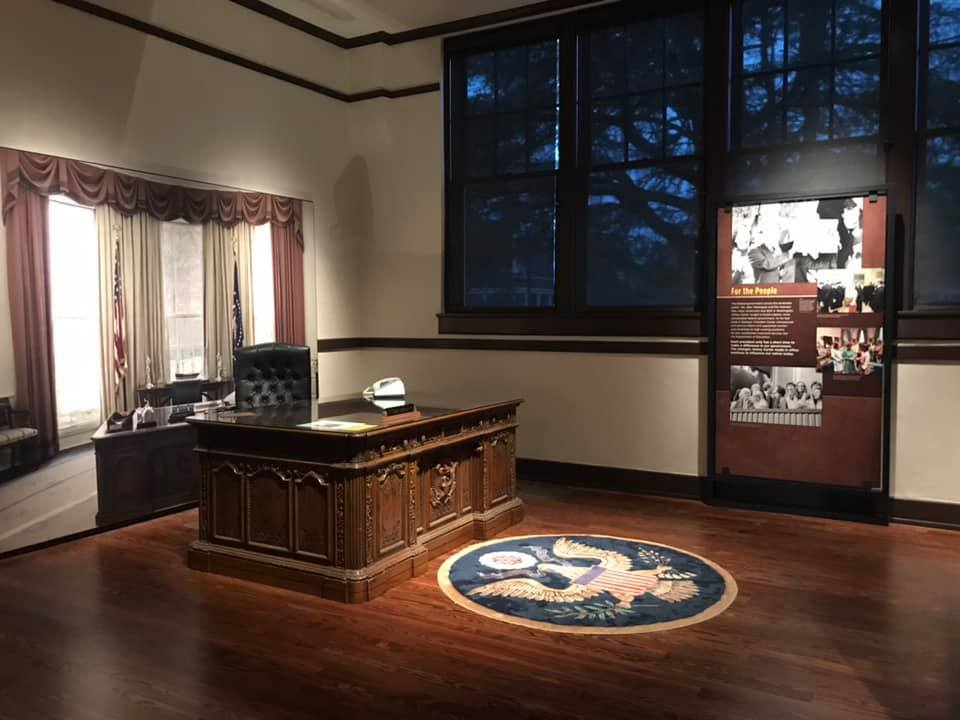 If you get a chance to visit Plains, don't forget to snap a photo from behind the resolute desk!