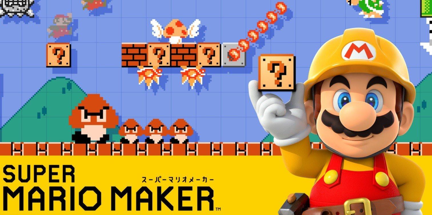 Japanese advertisement for Nintendo's Super Mario Maker